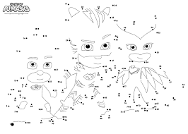 PJ Masks Connect The Dot Coloring Page
