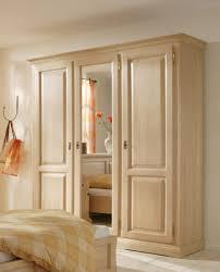 schrank kleiderschrank 3 türig spiegeltür schlafzimmer fichte massiv gewachst
