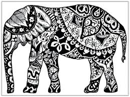 Coloring Pages Elephants Print Adult Free Elephant Page Head Indian Printable