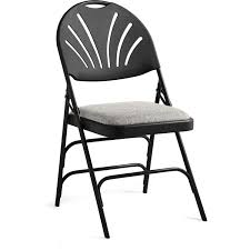 XL Commercial Grade Fan Back Padded All Steel Folding Chair, Black/Gray Set Of 4 Mid Century Samsonite Folding Chairs White And Comfort Series Steel Vinyl Chair Neutral Seat Back Tubular Natural Frame Fourlegged Base John Lewis Partners Henley By Kettler Outdoor Recliner Grey 2000 Injection Mold Fanback Black Trolley 41l X 19w 77h 2200 Polypropylene Tempered Powder Coated 4000 New Stackable Plastic Catering Marquee Garden Blue Burgundy In Heathrow Ldon Gumtree Sml497541050