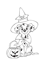 Dalmation Free Halloween Coloring Pages Disney Pdf Printable