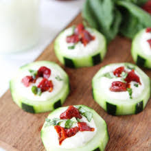 cucumber canapés recipe two peas their pod