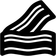 Black bacon icon