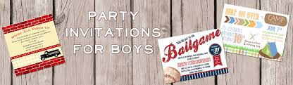 Boys Party Invitations — Jen T. By Design