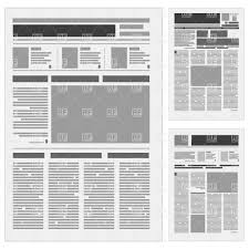 Generic Newspaper Layout Vector Image Vector Illustration Of