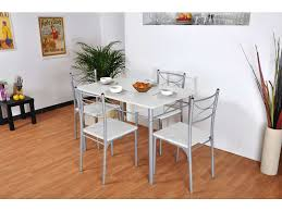 table et chaise cuisine conforama ensemble table rectangulaire 4 chaises tuti coloris blanc gris