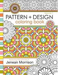 1 Pattern And Design Coloring Book Jenean Morrison Adult Books Volume