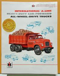 1957 International IHC Truck Model AC ACF 170 180 Gas LPG Sales Brochure