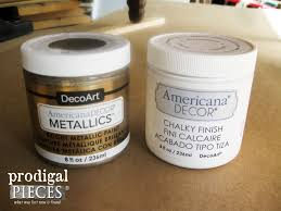 Americana Decor Chalky Finish Paint Colors by Metallic Paint Makeover A Table Tale Prodigal Pieces