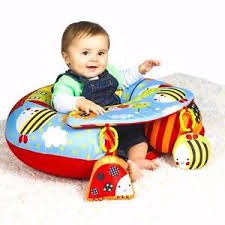 siege enfant gonflable garden baby ring seat with play tray activities