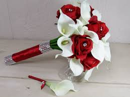 Beautiful Roses And Calla Lily Wedding Bouquets Gallery Styles