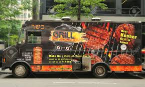 NEW YORK - JULY 9, 2015: Grill On Wheels Food Truck In Midtown ... Food Trucks Laura B Weiss New York July 9 2015 Customer Places Order At Gary S Steaks New York Plates Roaming Hunger Truck Stock Photos Images Atlixco Mexican In Midtown Brooklyn Editorial Image Image Of Thai Tourism 56276020 Kosher Fresh Diet Express Invades Nyc With Its 35 Intertional Mobile Kitchen Trailer For Sale Googles Latest Free Lunch Option Is A Fleet 20 Fancy Food Trucks Street June 1 Famous Desi East Williamsburg