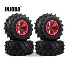Hot Sale 4PCS RC Monster Truck Wheel Rim Tires Kit For 1:10 Traxxas ...