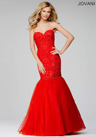 red strapless lace prom dress 28431 prom pinterest lace prom