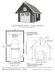e car garage has Craftsman styling with roof brackets framed