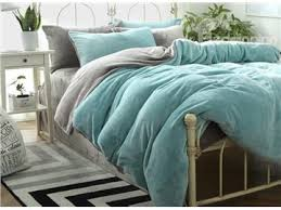 full size blackish green super soft fluffy plush 4 piece bedding