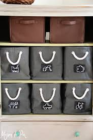 Make Your Own Toy Storage by Diy Chalkboard Tags Maison De Pax