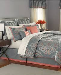 Coral Colored Bedding by Martha Stewart Collection Bedding Grand Damask 24 Piece Queen