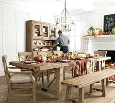 Beautiful Extending Dining Table Pottery Barn In Room Light Fixtures