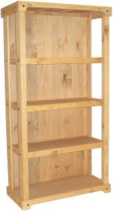 wood shelving stand closed back design