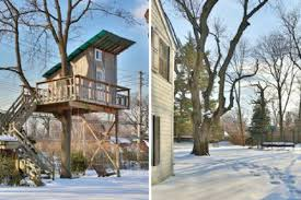 Turns Out This Bronx Home Comes With A Backyard Treehouse - Curbed NY Our Work Tree Houses By Dave Modern Treehouse Designed As A Weekender In The Backyard For 9 Completely Free House Plans Funky Video Hgtv Cool Designs We Wish Had In Our Photos Steal This Look A Fort Gardenista Child Within Max Backyard Treehouse Scene Tree Incredible Treehouses You As Kid The Design Dome 25 Ideas Youtube