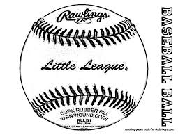 Free Coloring Sheet Baseball BaseBall At YesColoring