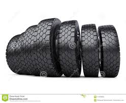 100 New Truck Tires Row Of Big Vehicle Car Wheels Stock Illustration