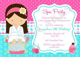 Spa Party Invitations With Artistic Appearance For Invitation Design Ideas 1