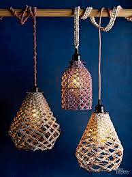 Macrame Is Back In A Big Way And We Giving It Fresh Modern Spin Create Textured Pendant Lights Using One Simple Knot