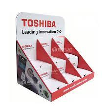 Toshiba Battery Promotional Cardboard Creative Counter Displays With Custom Design