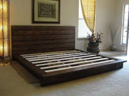 King Size Platform Bed With Headboard by Outstanding How To Build A King Size Platform Bed 5309 For Modern