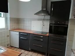 küche gebraucht ikea anthrazit mit ceranfeld und backofen in