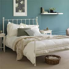 Cream Metal Bed Frame