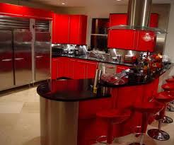 Red And Black Kitchen Designs With Good Decorating Ideas Miserv Wonderful