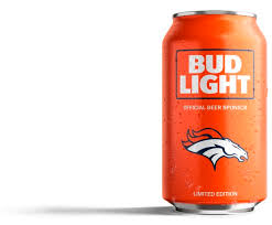 Look new Broncos orange Bud Light cans Just don t drink them at