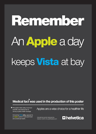 A Great Example Of Good Typography Usage In An Ad For IMac