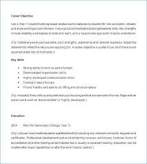 Resume Format For Students With No Experience Elegant Examples Highschool Work