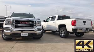 2017 Chevrolet Silverado LTZ VS 2017 GMC Sierra SLT - Comparison ... Gmc Comparison 2018 Sierra Vs Silverado Medlin Buick 2017 Hd First Drive Its Got A Ton Of Torque But Thats Chevrolet 1500 Double Cab Ltz 2015 Chevy Vs Gmc Trucks Carviewsandreleasedatecom New If You Have Your Own Good Photos 4wd Regular Long Box Sle At Banks Compare Ram Ford F150 Near Lift Or Level Trucksuv The Right Way Readylift 2014 Pickups Recalled For Cylinderdeacvation Issue 19992006 Silveradogmc Bedsides 55 Bed 6 Bulge And Slap Hood Scoops On Heavy Duty Trucks