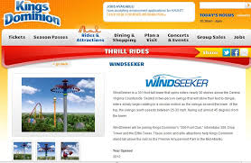 Kings Dominion Halloween Haunt Application by Behind The Thrills Windseeker And Dinosaurs Alive Make The Line