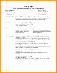 Computer Science Major Resume Best Of Sample For Masters In Puter Free Download