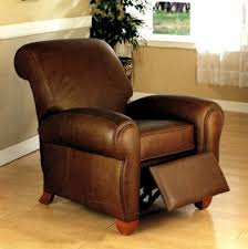 Manhattan Leather Recliner Pottery Barn Throughout Club Chair