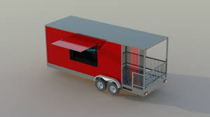 100 Food Truck Trailer And Interior Modeling By RDESIGN On Cad Crowd
