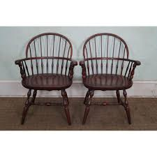 Nichols And Stone Windsor Armchair by Nichols U0026 Stone Cherry Windsor Armchairs A Pair Chairish