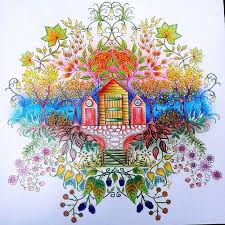 Adult Coloring Books Johanna Basford Secret Garden Drawing Art Gardens Pencil Painting Tag Photo Hummingbirds Colored Pencils