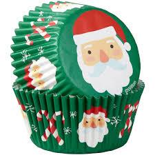 Wilton Caissettes à Cupcakes Père Noël Canne Pcs75 Wilton NOEL