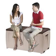 Keter Glenwood 390 Litre Deck Box by Keter Deluxe Plastic Storage Box Container Outdoor Garden