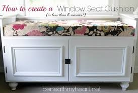 diy 5 minute window seat cushion beneath my heart