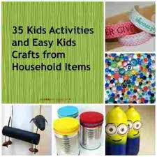 Kids Crafts With Common Household Items Activities And Easy From Rhcom To Make