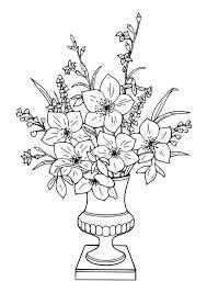 dessin bouquet de fleure