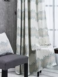 Geometric Pattern Sheer Curtains by Geometric Jacquard Chenille Thermal Ready Made Curtains
